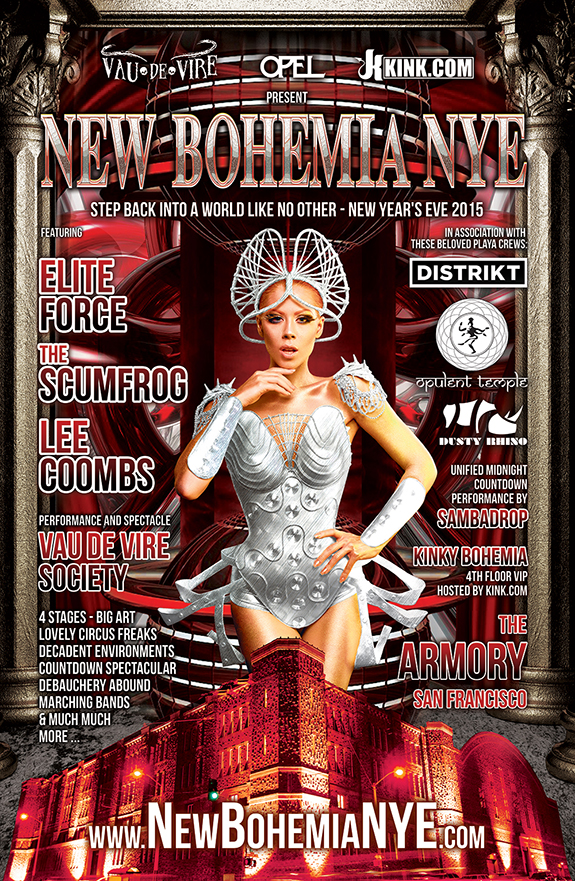 New Bohemia New Year's Eve party - December 31, 2014 - The A