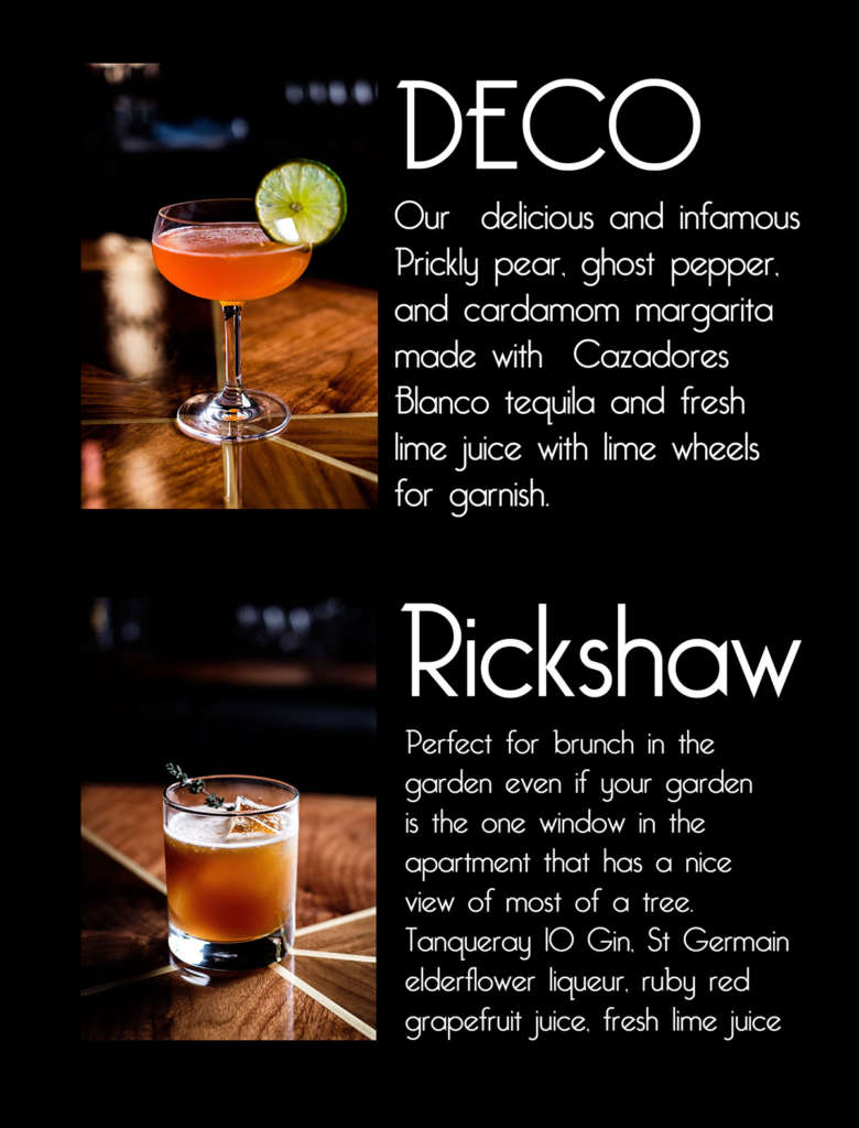 Monarch Delivered Cocktails Menu One