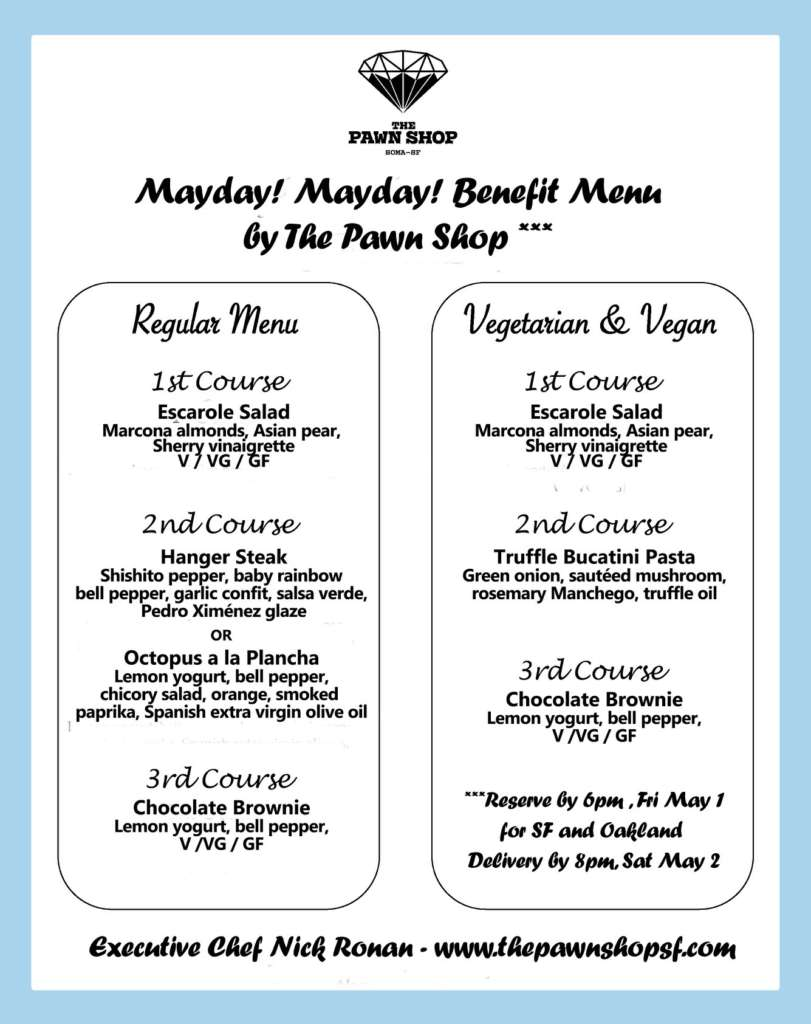 Mayday Benefit Menu